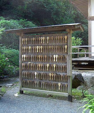 Shamoji - in the Buddhist temple (Kumamoto, Japan)