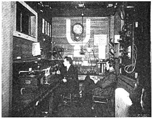 WRUC - Image: Union College radio station 2XQ 1921