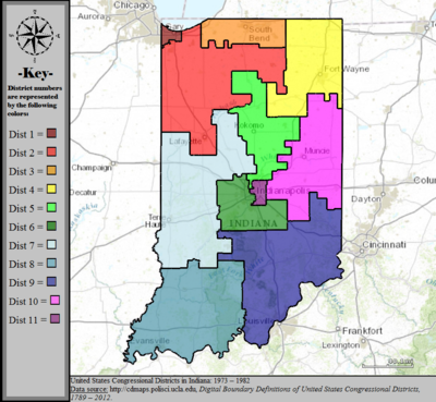 Indiana39s Congressional Districts  Wikipedia