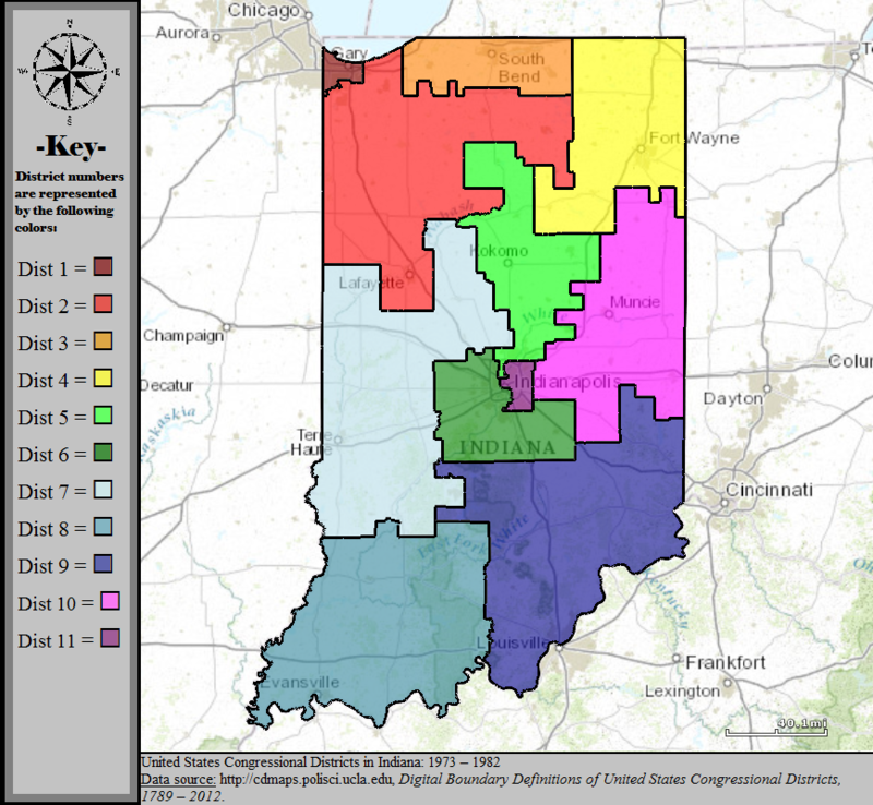 Indianas Congressional Districts Wikiwand - Indiana us map