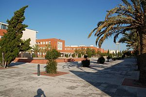 University of Aveiro - The main concourse between department blocks at the main campus