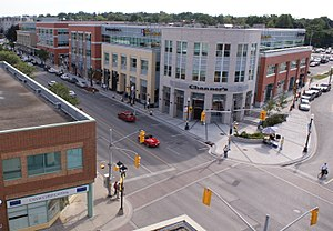 Waterloo, Ontario - Uptown Waterloo, looking south down King Street.