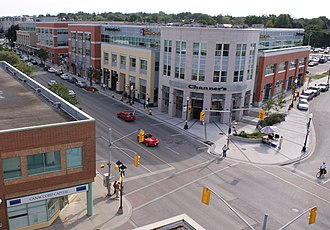 Waterloo, Ontario - Uptown Waterloo, looking south down King Street.