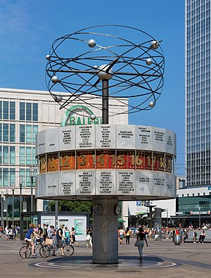 World clock - The Weltzeituhr (World Clock) at Alexanderplatz in Berlin