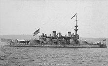La nave da guerra USS Massachusetts (BB-2) che scortò la flotta americana nello sbarco a Guánica