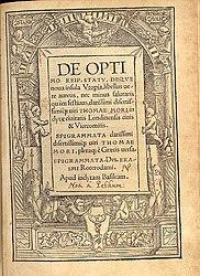 Thomas Morus: English: Utopia