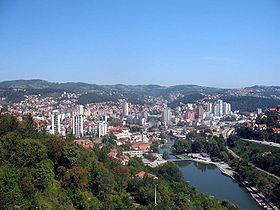 Panoramic view of Užice