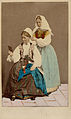 Världsutställningen i Paris 1867. Två kvinnor i folkdräkter från Blekinge - Nordiska Museet - NMA.0039851.jpg