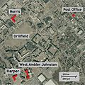 VA Tech massacre aerial photo of referenced locations.jpg