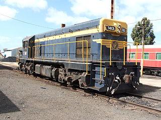 Model of 875 hp American export model of diesel locomotive