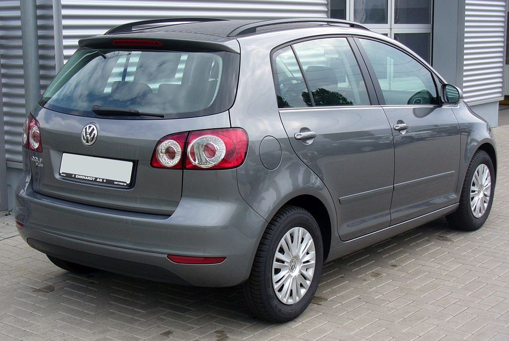 file vw golf plus 1 4 trendline united grey heck jpg wikimedia commons. Black Bedroom Furniture Sets. Home Design Ideas