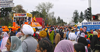 South Asian Canadians in Greater Vancouver - Vaisakhi parade in Surrey in 2006