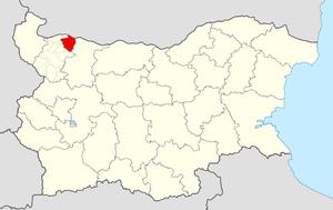 Valchedram Municipality - Image: Valchedram Municipality Within Bulgaria