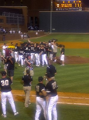2011 Vanderbilt Commodores baseball team - Vanderbilt celebrates the Super Regional win