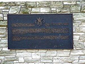 Aloisius Joseph Muench - A plaque in Kronberg commemorating Muench's term as apostolic visitor