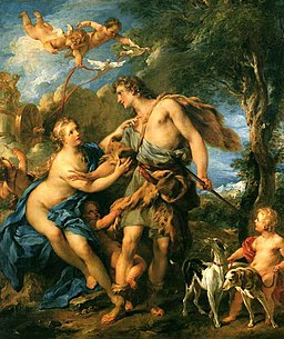 Venus and Adonis. Francois Lemoyne