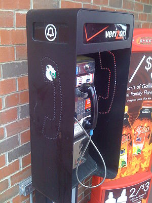 Breakup of the Bell System - A Verizon payphone with the Bell logo