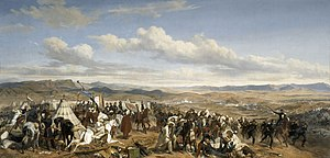 Depicts the Battle of Isly on 14 august 1844