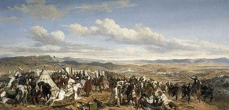 Franco-Moroccan War - Battle of Isly, oil painting by Horace Vernet.