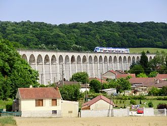 Paris-Est - Mulhouse-Ville railway - The railway at Longueville, Seine-et-Marne