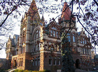 University of Toronto - Old Vic, the main building of Victoria College, typifies the Richardsonian Romanesque style.