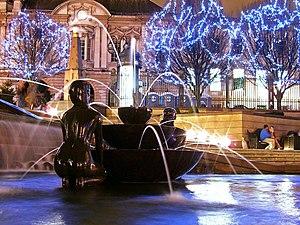 Victoria Square, Birmingham - Victoria Square at Night, in February 2008