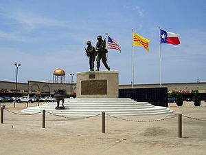Chinatown, Houston - Vietnam War memorial in the new Chinatown in Houston, Texas, United States.