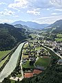 View from Fort Hohenwerfen near Werfen, Sankt Johann im Pongau District, Austria.jpg
