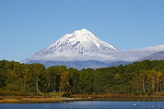 Russian Far East - Koryaksky volcano in Kamchatka