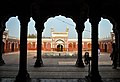 View of the whole mosque from inside - Shahi Mosque.jpg