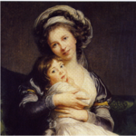 Vigée-Lebrun, Marie Louise Elisabeth - Self-Portrait in a Turban with Her Child - 1786.PNG