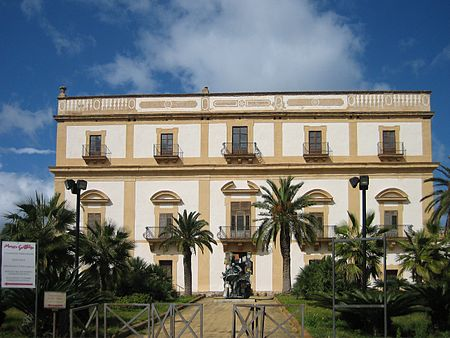 Villa Valguarnera, begun in 1712, for Marianna del Bosco (Princess of Cattolica). Villa Cattolica in Bagheria.jpg