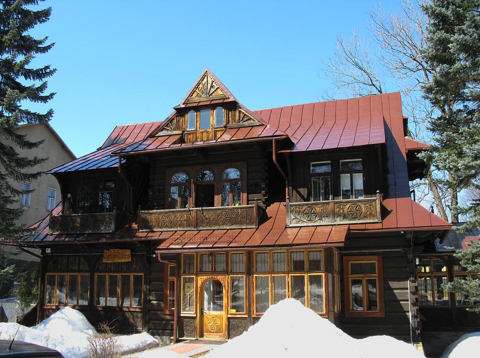 Villa Konstantynówka in Zakopane, place of stay of Joseph Conrad in 1914