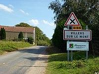 Villers-sur-le-Mont (Ardennes) city limit sign.JPG