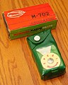 Vintage Miniman Germanium Crystal Radio, Model M-702, AM Band, Made In Japan, Circa 1958 (48632563076).jpg