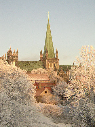Religion in Norway - Nidaros Cathedral, the largest church in Norway.