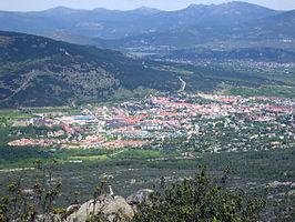 Vista parcial de Moralzarzal tomada desde el pico Canto Hastial
