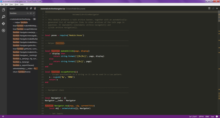 Visual Studio Code 0.10.1 on Windows 7, with search.png