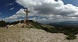 Vodno, pohled na Milenijumski krst z vrcholu Vodno II.jpg