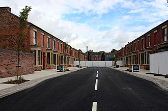 Welsh Streets, Liverpool - Voelas Street in September 2017, showing almost complete refurbishment