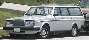 Volvo 200-Series wagon photographed in USA.