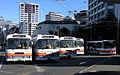 Volvo trolleybuses at Railway Station loop, Wellington.jpg