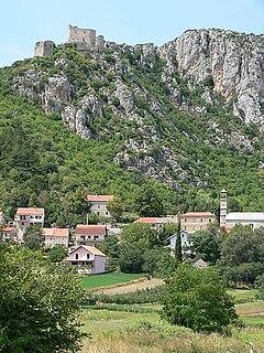 Vrlika Town in Split-Dalmatia, Croatia