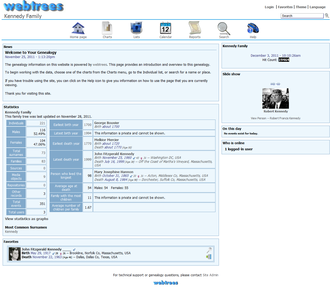 Genealogy software - Webtrees is an example of a web-based open source genealogy software