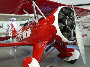 Historic Aircraft Restoration Museum - Image: WACO UBF2 closeup