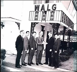 WALG - At the Holiday Inn Studio in the 1960s