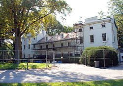 Strawberry Mansion, under restoration in 2009, is located adjacent to the Strawberry Mansion community