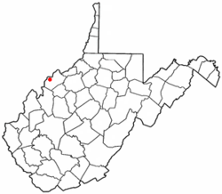 Location of Lubeck, West Virginia