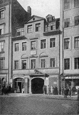 Richard Wagner - Wagner's birthplace, at 3, the Brühl, Leipzig
