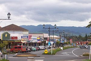 Waihi - A view from North Waihi looking south down Seddon Street.